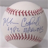 MIKE CALDWELL SIGNED MLB BASEBALL W/ 1982 BREWERS