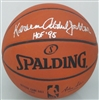 KAREEM ABDUL-JABBAR SIGNED REPLICA BASKETBALL W/ 71 NBA CHAMPS - JSA