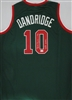 BOBBY DANDRIDGE SIGNED CUSTOM REPLICA GREEN BUCKS JERSEY