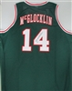 JON McGLOCKLIN SIGNED CUSTOM GREEN BUCKS JERSEY