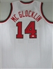 JON McGLOCKLIN SIGNED CUSTOM REPLICA WHITE BUCKS JERSEY - JSA