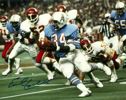 hot sales b7ac1 5a011 EARL CAMPBELL SIGNED 8X10 OILERS PHOTO #2