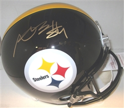ANTONIO BROWN SIGNED FULL SIZE STEELERS REPLICA HELMET - JSA