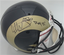 TODD GURLEY SIGNED FULL SIZE RAMS REPLICA HELMET W/ ROY '15 - JSA