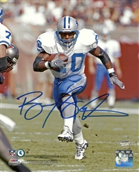 BARRY SANDERS SIGNED 8X10 LIONS PHOTO #2