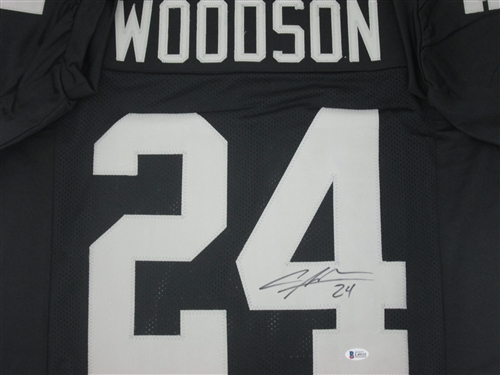finest selection 2bf7f a9d88 CHARLES WOODSON SIGNED CUSTOM RAIDERS JERSEY - BCA