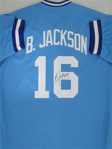 online retailer 3979b e2d18 BO JACKSON SIGNED CUSTOM KC ROYALS JERSEY - JSA