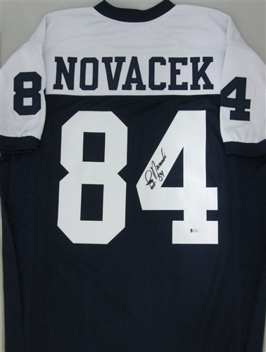 timeless design d084b e7661 JAY NOVACEK SIGNED CUSTOM COWBOYS JERSEY - BCA