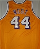 JERRY WEST SIGNED CUSTOM LAKERS JERSEY - JSA