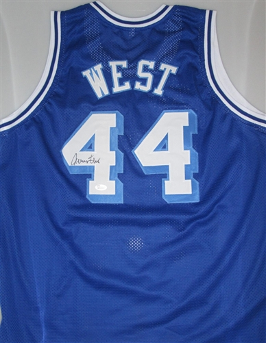 finest selection ac0b6 a83ef JERRY WEST SIGNED CUSTOM WEST VIRGINA MOUNTAINEERS JERSEY - JSA