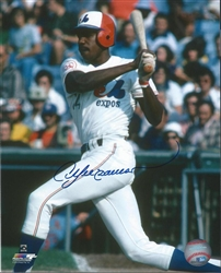 ANDRE DAWSON SIGNED 8X10 EXPOS PHOTO #2