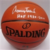JERRY WEST SIGNED REPLICA SPALDING BASKETBALL W/ HOF - JSA