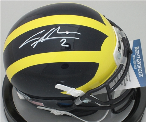 separation shoes 7d3c3 fa0fe CHARLES WOODSON SIGNED MICHIGAN WOLVERINES MINI HELMET - BCA