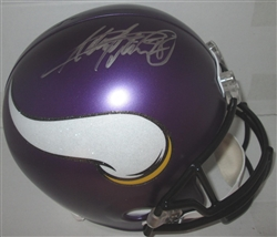ADRIAN PETERSON SIGNED FULL SIZE REPLICA VIKINGS HELMET