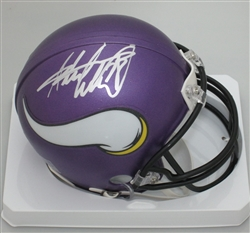 ADRIAN PETERSON SIGNED VIKINGS MINI HELMET