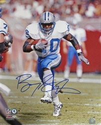 BARRY SANDERS SIGNED 16X20 LIONS PHOTO #2