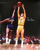 JERRY WEST SIGNED 16X20 LA LAKERS PHOTO #2 - JSA
