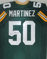 BLAKE MARTINEZ SIGNED GREEN CUSTOM PACKERS REPLICA JERSEY - JSA