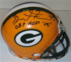 GILBERT BROWN SIGNED PACKERS MINI HELMET W/ GBP HOF