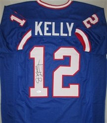 JIM KELLY SIGNED CUSTOM BILLS JERSEY - JSA