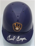 CECIL COOPER SIGNED BREWERS RETRO MINI HELMET