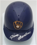 JIM GANTNER SIGNED BREWERS RETRO MINI HELMET