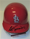 TED SIMMONS SIGNED ST LOUIS CARDINALS MINI HELMET - JSA