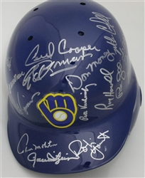 1982 BREWERS TEAM SIGNED RIDDELL FULL SIZE HELMET W/ 20 AUTOS