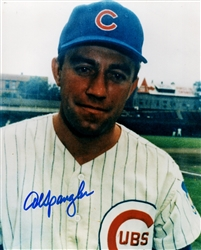 AL SPANGLER SIGNED 8X10 CHICAGO CUBS PHOTO #2