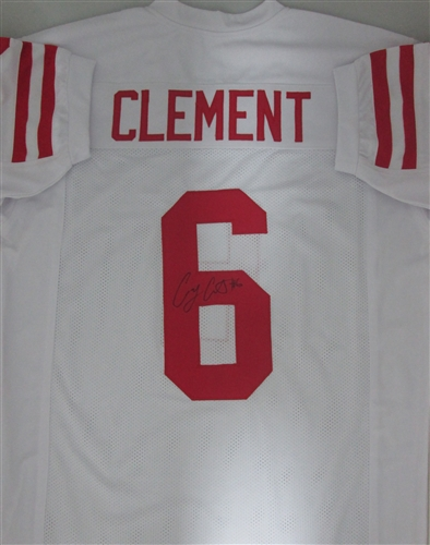 c2af561e8 COREY CLEMENT SIGNED CUSTOM WHITE BADGERS JERSEY