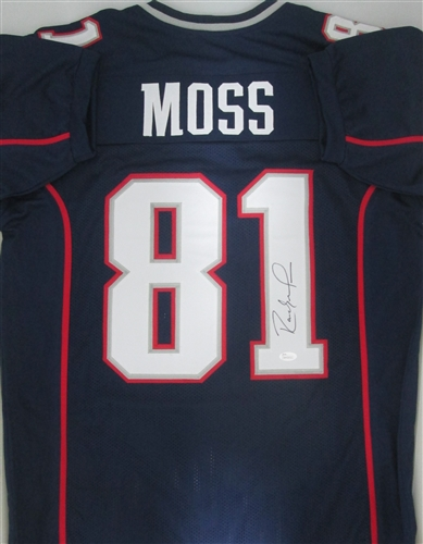 uk availability 6db5c 6022c RANDY MOSS SIGNED CUSTOM PATRIOTS JERSEY - JSA