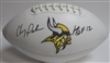 CHRIS DOLEMAN SIGNED WILSON VIKINGS LOGO FOOTBALL - JSA