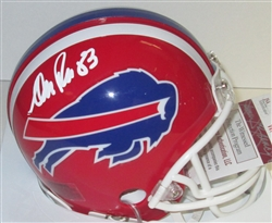 ANDRE REED SIGNED BILLS MINI HELMET - JSA