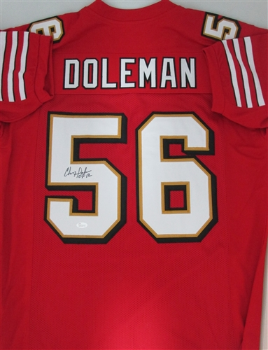 factory price 367f6 ae7a4 CHRIS DOLEMAN SIGNED CUSTOM 49ERS JERSEY - JSA
