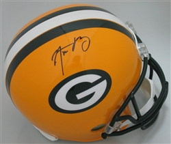 AARON RODGERS SIGNED FULL SIZE PACKERS REPLICA HELMET