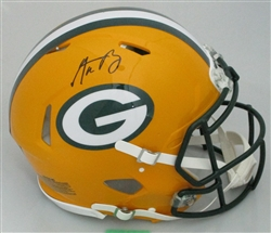 AARON RODGERS SIGNED FULL SIZE PACKERS AUTHENTIC SPEED HELMET