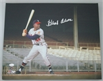 HANK AARON SIGNED 16X20 MILW BRAVES STRETCHED CANVAS #8 - JSA