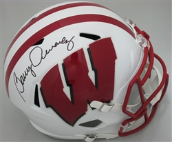 BARRY ALVAREZ SIGNED FULL SIZE BADGERS REPLICA SPEED HELMET