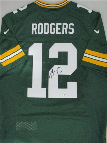 aaron rodgers signed green packers nike on field jersey 68702cd96