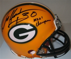 WILLIAM HENDERSON SIGNED PACKERS MINI HELMET W/ XXXI CHAMPS