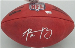 AARON RODGERS SIGNED WILSON DUKE AUTHENTIC FOOTBALL - FANATICS