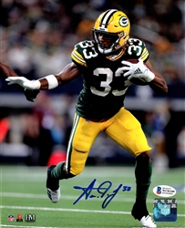 AARON JONES SIGNED 8X10 PACKERS PHOTO #4