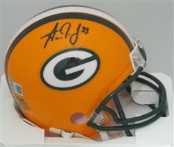 AARON JONES SIGNED PACKERS MINI HELMET - JSA