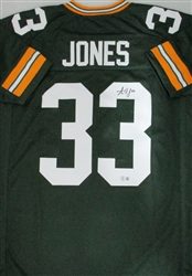 AARON JONES SIGNED CUSTOM PACKERS GREEN JERSEY - BCA