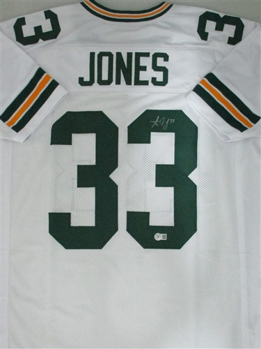 official photos 3e667 2db1c AARON JONES SIGNED CUSTOM PACKERS WHITE JERSEY - JSA