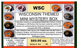 WSC MYSTERY MINI HELMET BOX - WISCONSIN EDITION SERIES 4