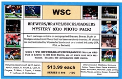 WSC MYSTERY 8x10 BOX PACK - BRAVES & BREWERS EDITION SERIES 5