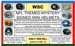 WSC MYSTERY SIGNED MINI HELMET BOX - MISC THEMED - SERIES 1 - ONLY 1 LEFT