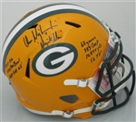 DON MAJKOWSKI SIGNED FULL SIZE PACKERS REPLICA HELMET W/ STATS