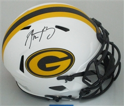 AARON RODGERS SIGNED FULL SIZE PACKERS BLAZE HELMET